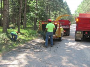 2015 curbside chipping project in Germantown, WI