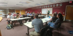 UW students and DNR employees giving presentations