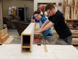 Brown Deer students utilizing urbana wood