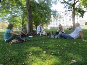 staff memebers on capitol park