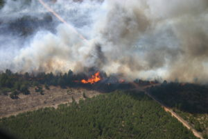 Germann Road Fire photo from the air