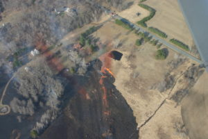 The Pleasant Valley Fire in Eau Claire Co. occurred on April 30th, burned 122 acres and 1 structure. Fortunately, 19 structures were threatened and saved.