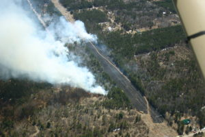 Arial picture of the Van Beek Fire