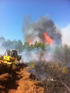 Tractor plow on the Germann Road Fire in 2013