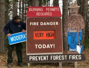 Wildfire danger starts to decrease as vegetation greens up and we get regular rainfall.