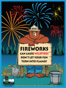 Fireworks can cause wildfires