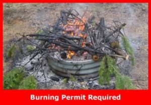 Burning in a fire ring with the intent to eliminate debris is not a campfire.