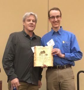 Josh receiving the award on behalf of Golden Sands RandD