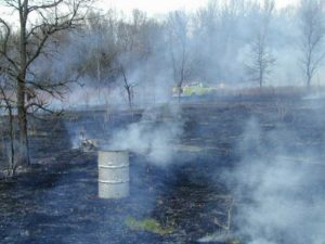 Debris burning caused half of Wisconsin's wildfires last week.  Burn barrels use is one form of debris burning.