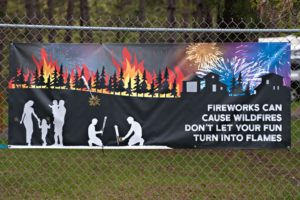 Fireworks can cause wildfires.  Don's let your fun turn into flames.