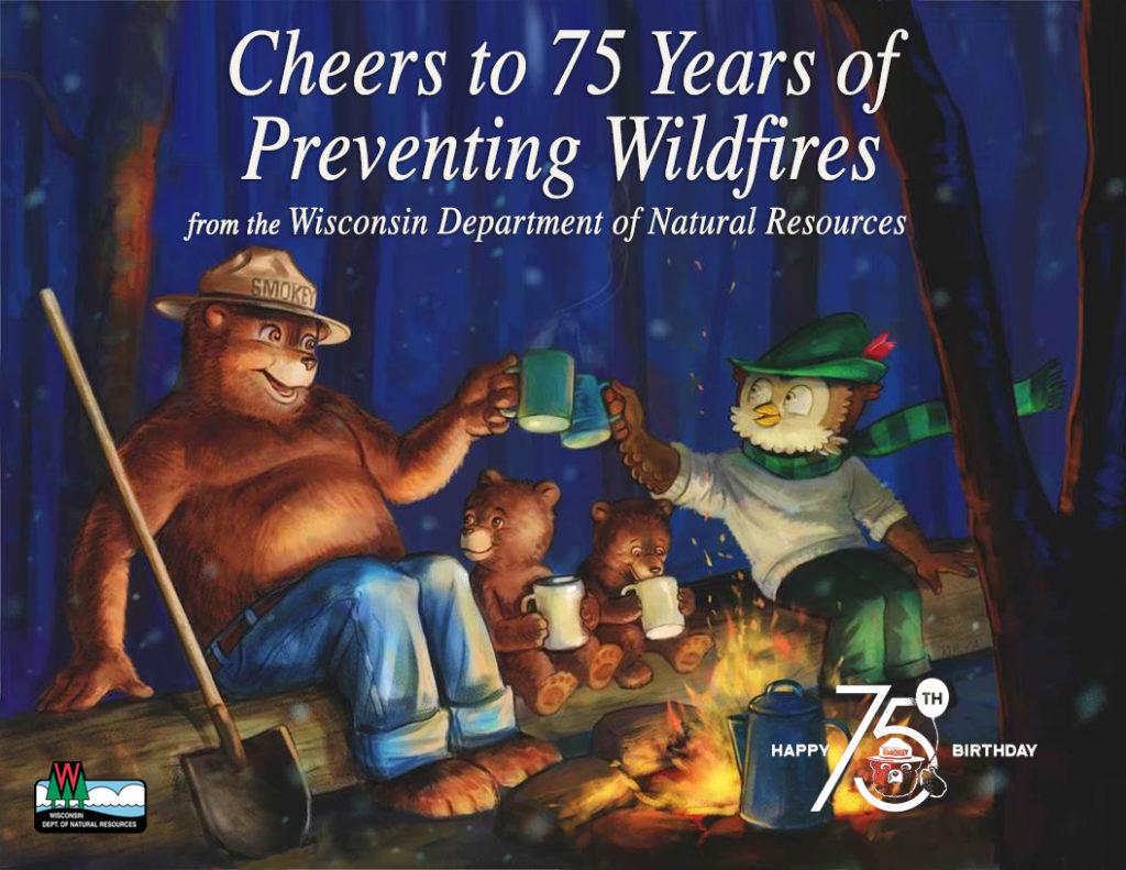 Smokey Bear celebrates his 75th birthday.