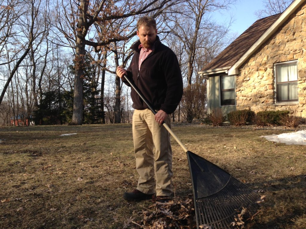 Rake up your leaves and compost them instead of burning them.