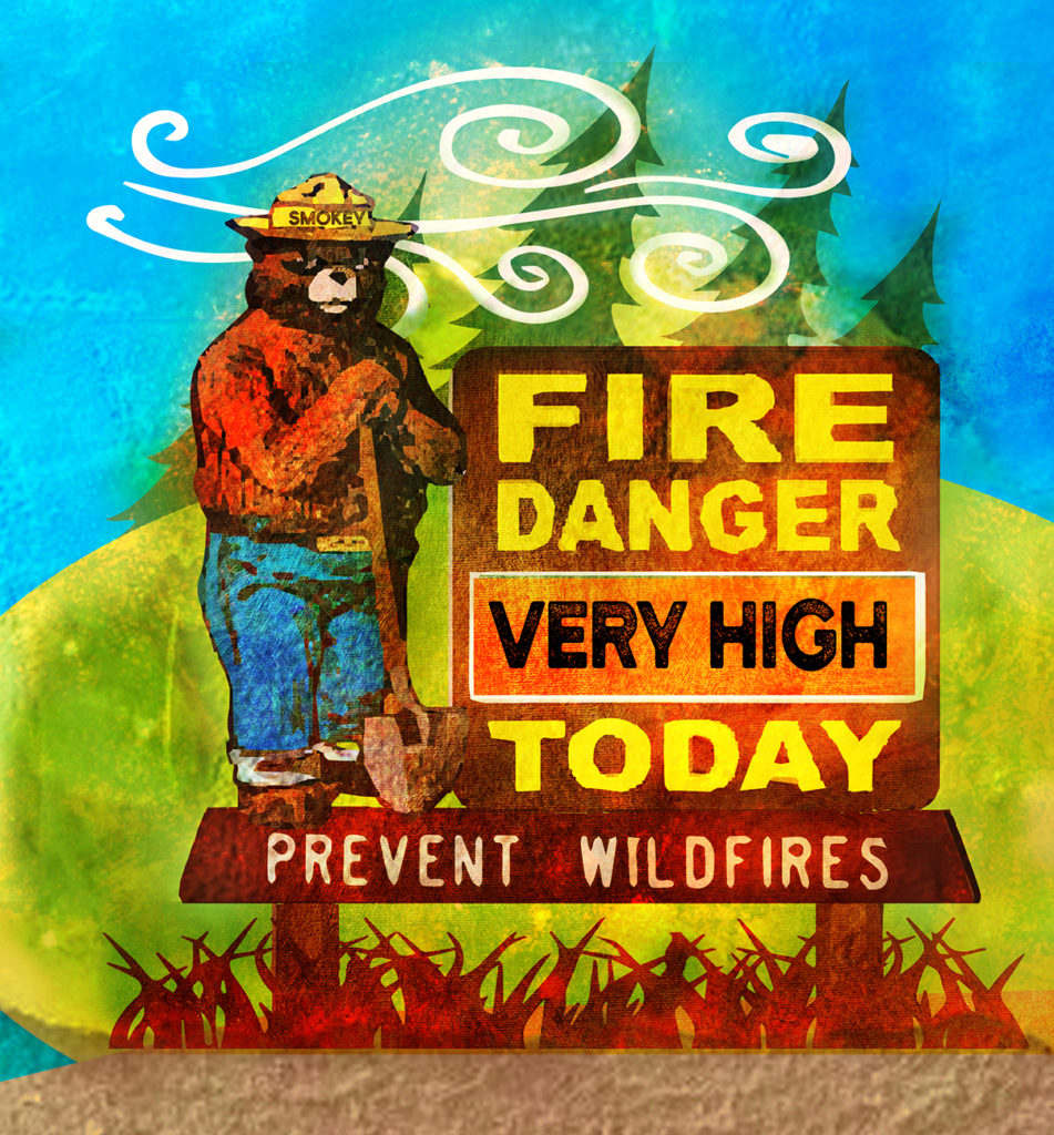 Very High Smokey Fire Danger Sign