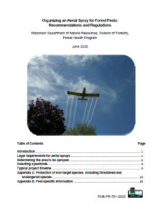 Cover page of the updated aerial spray guide.